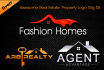 do 03 Real estate logo designs quickly in 2 hours