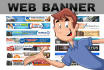 create banner animation images for your website