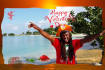do unique valentine day greetings from real Jamaican beach