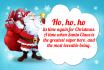 create a Christmas Santa card with your text