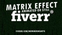 add this awesome matrix effect to your photo or logo