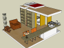 make a 3d model design with SketchUp