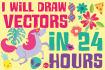 draw VECTORS in 24 hours