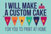 make a custom printable cake topper for your party