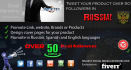 tweet your product over 50 million followers in Russia