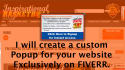 create a custom popup for your wordpress site