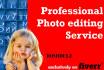 do any photo editing work