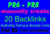 provide 20 PR 6 to PR8 Authority Backlinks from Famous Brands