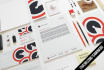 make stylish and professional full CORPORATE identity or branding