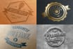 create vintage logo and badge design