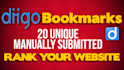 manually Add 20 Unique Diigo Bookmarks
