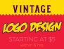 create 2 vintage or retro Logo in 6 hrs