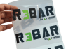 print CLEAR stickers of your logo or design