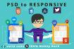 convert PSD to Responsive HTML5 CSS3