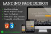 design Corporate Landing page with Mobile Responsive