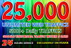 get you 25,000 unlimited Google traffic