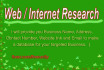 do deep Web or Internet Research find for your targeted Business info