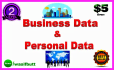 get you Business leads and Personal with Email For MARKETING