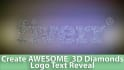 create AWESOME  3D Diamonds Logo Text Reveal