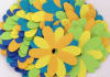 send 12 colorful handcrafted flowers