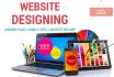 design original and unique webpage or landing page