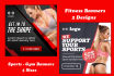 design attractive Fitness, Sports, Gym, Workout Website banner