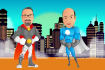 create SUPERHERO cartoon characters