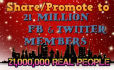 share your website or page with 21,000,000 fb twitter members within 24 hours