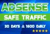 supply 1 MONTH AdSense safe Organic traffic visits