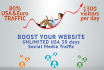 add 1100 to 1400 google traffic for 30 days