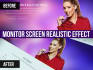 add Monitor Screen Realistic Effect to Your image