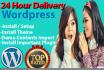 install wordpress ,setup wordpress for you at your domain