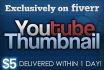 design you a Custom Youtube Thumbnail