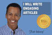 write an ENGAGING article for your website