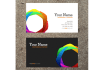 design professional two sided two business cards