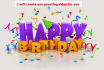 make an Amazing Happy BIRTHDAY Greeting Video