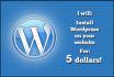 install wordpress on your website