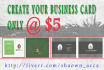 do Business Card Print Layout