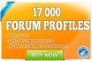 create 17000 Forum profiles with Xrumer Order NOW