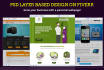 make PSD layer based home page webdesign