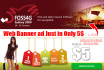 design Creative and Professional Flyer, Brochure Web Banner