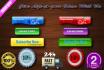 make web Button , seal design , elegant header