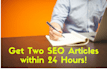 two 400 word SEO article writing on any topic