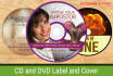 design Cd and DVD cover or label