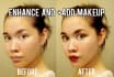 retouch your face with photoshop and add makeup Up to 3 pics
