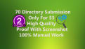 do 70 Niche High PR Directory Submission For Your Website