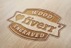engrave your logo in wood style design