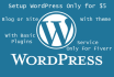 professionally Create WordPress Blog or Website