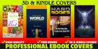 design a high quality kindle or 3D ebook cover