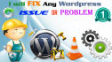 fix or solve any WORDPRESS Issue or problem
